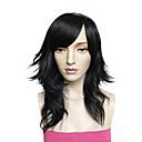 رخيصةأون باروكات تنكرية-الاصطناعية الباروكات مجعد شعر مستعار صناعي أسود شعر مستعار للمرأة طويل دون غطاء أسود