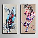 baratos Impressões-Estampado Laminado Impressão De Canvas - Paisagem / Animais Modern