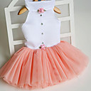 abordables Accesorios de Aseo para Perro-Gato Perro Vestidos Ropa para Perro Princesa Naranja Fucsia Verde Rosa Tejido Disfraz Para mascotas Bonito