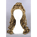 cheap Costume Wigs-Synthetic Wig / Cosplay & Costume Wigs Curly With Ponytail Synthetic Hair Updo / Middle Part / Braided Wig Brown Wig Women's Medium Length Capless