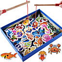 cheap Baseball Toys-Building Blocks Fishing Toy Educational Toy Fish Magnetic Classic Boys' Girls' Toy Gift