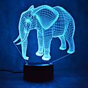 baratos Novidades em Iluminação-elefante toque escurecendo luz led 3d luz 7colorful decoração atmosfera lâmpada novidade iluminação luz