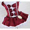 cheap Dog Clothes-Dog Dress Dog Clothes Princess Dark Blue Red Dark Red Cotton Costume For Summer Men's Women's Casual / Daily Fashion