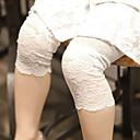 זול מכנסיים וטייץ לבנות-בנות בסיסי כותנה מכנסיים - אחיד תחרה לבן / פעוטות