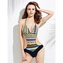 preiswerte Kostüme für Erwachsene-Damen Blumig / Boho / Muster Monokini Geometrisch Halter / Push-Up / Drahtlos / Gepolsterte BHs / Bügel-BH