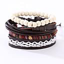 cheap Men's Bracelets-Men's Leather Bracelet - Leather, Resin Vintage, Punk Bracelet Black For Christmas Gifts Anniversary Birthday