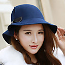 hesapli Çerez Araçları-Kadın's Kaşmir Tokalı Şapka Solid