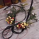 halpa Pääkoristeet juhliin-basketwork pellava kankaan headbands seppeleet headpiece tyylikäs tyyli
