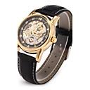 preiswerte Mechanische Uhren-Herrn Armbanduhr Mechanische Uhr Japanisch Automatikaufzug Transparentes Ziffernblatt PU Band Analog Luxus Schwarz - Schwarz