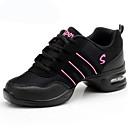 "cheap Dance Sneakers-Women's Dance Sneakers Fabric Sneaker Practice Low Heel Gold White Black Purple Pink 2"" - 2 3/4"" Non Customizable"