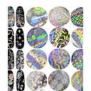baratos Adesivos de Unhas-1pcs Adesivos Adesivo de folha arte de unha Manicure e pedicure Design Moderno / Espumante Com Gliter / Decalques de unha Diário / Encontro / Feriado