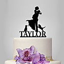 cheap Party Headpieces-Cake Topper Garden Theme / Classic Theme / Rustic Theme Classic Couple Acrylic Wedding / Anniversary / Bridal Shower with OPP