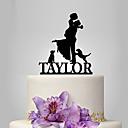 זול מתנות לחתונה-קישוטים לעוגה נושאי גן / נושא קלאסי / נושא כפרי זוג קלסי אקרילי חתונה / יוֹם הַשָׁנָה / מסיבת רווקות עם OPP