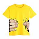 abordables Pendientes-Camiseta Unisex Diario Deportes Escuela Algodón Manga Corta Verano Blanco Negro Rojo Amarillo Azul claro