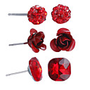 cheap Shoes Accessories-Women's Jewelry Set - Flower Simple Style, Cute, Africa Include Red For Anniversary / Birthday / Housewarming / Earrings