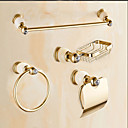 cheap Bathroom Accessory Set-Bathroom Accessory Set Contemporary Brass Wall Mounted