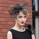 preiswerte Parykopfbedeckungen-Tüll Strass Feder Hüte Kopfschmuck klassischen weiblichen Stil