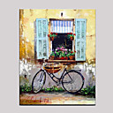 cheap Oil Paintings-Oil Painting Hand Painted - Landscape European Style Mediterranean Canvas
