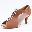 ieftine Îmbrăcăminte Câini-Pentru femei Pantofi Dans Latin Piele de Căprioară Sandale / Cizme Personalizabili Pantofi de dans Negru / Cafea / Rosu / Interior