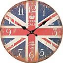 رخيصةأون ساعات حائط روستيك-أنتيك كاجوال تقليدي زهري رجعي مكتب/الأعمال خشب دائري داخلي,البطارية