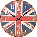 ieftine Ceasuri de Perete-Antichizat Casual Tradițional Țara Retro Birou / Afacere Lemn Rotund Interior,Baterie