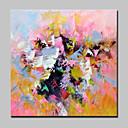 tanie Pejzaże-Hang-Malowane obraz olejny Ręcznie malowane - Streszczenie Nowoczesny / Fason europejski Brezentowy / Rozciągnięte płótno