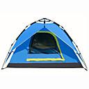 olcso Sátrak-3-4 személy Szabadtéri Hátizsákos utazáshoz sátor Vízálló Gyors szárítás Lélegzési képesség Automatikus Kupola Egy szoba Kétrétegű 2000-3000 mm Kemping sátor mert Túrázás Kemping Szabadtéri Oxford