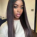 billige Blondeparykker med menneskehår-Ekte hår Helblonde Parykk Brasiliansk hår Rett Parykk 130% Hair Tetthet med baby hår Naturlig hårlinje Afroamerikansk parykk 100 % håndknyttet Dame Kort Medium Lengde Lang Blondeparykker med