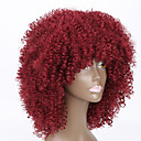 cheap Synthetic Lace Wigs-red color wigs for black women kinky curly synthetic women european wigs