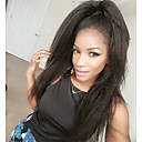 cheap Human Hair Wigs-Human Hair Glueless Lace Front Lace Front Wig Brazilian Hair Straight kinky Straight Wig 130% Density with Baby Hair Natural Hairline African American Wig 100% Hand Tied Women's Short Medium Length