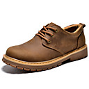 cheap Men's Oxfords-Men's Nappa Leather Spring / Fall Comfort Oxfords Coffee / Light Brown