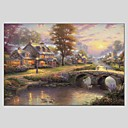 cheap Landscape Paintings-Oil Painting Hand Painted - Landscape Classic Modern Canvas