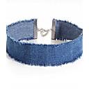 cheap Men's Necklaces-Women's Choker Necklace - Unique Design Dark Blue, Light Blue Necklace 1pc For Party, Daily, Casual
