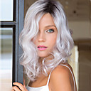 cheap Human Hair Capless Wigs-high quality wave black to white color wigs fashion sexy women wigs natural hair synthetic wigs