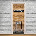 저렴한 벽 스티커-도어 스티커 - 3D 월 스티커 정물 거실 / 침실