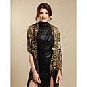 cheap Wedding Wraps-Sequined Wedding / Party Evening Women's Wrap With Sequin / Tassel Shawls