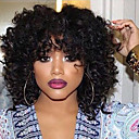 cheap Synthetic Capless Wigs-Synthetic Wig Women's Wavy / Kinky Curly Black Synthetic Hair African American Wig Black Wig Medium Length Capless Natural Black