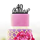 billige Bryllupsdekorasjoner-Kakepynt Hage Tema / Klassisk Tema Akryl Bryllup / jubileum / Bursdag med 1 pcs OPP