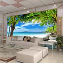 baratos Murais de Parede-Mural Tela de pintura Revestimento de paredes - adesivo necessário Árvores / Folhas 3D