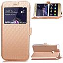 hesapli Telefon kılıfları & Ekran Koruyucular-Pouzdro Uyumluluk Huawei Huawei P8 Lite Kart Tutucu Satandlı Pencereli Flip Tam Kaplama Kılıf Tek Renk Sert PU Deri için P8 Lite (2017)