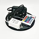 olcso Süllyesztett-ZDM® 5 m RGB szalagfények 300 LED 3528 SMD RGB Távirányító / Cuttable / Tompítható 100-240 V / Összekapcsolható / Öntapadós / Színváltós / IP44