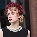 cheap Party Headpieces-Tulle / Chiffon Headbands / Birdcage Veils with 1 Wedding / Special Occasion / Casual Headpiece