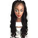 olcso Szintetikus parókák-ELVA HAIR Emberi haj Csipke korona, szőtt Csipke Paróka Laza hullám Paróka 130% Haj denzitás Természetes hajszálvonal Afro-amerikai paróka 100% kézi csomózású Női Rövid Közepes Hosszú Emberi hajból