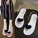 hesapli Kadın Sandaletleri-Kadın's Ayakkabı PU Yaz Topuktan Bağlamalı Sandaletler Kalın Topuk için Beyaz / Siyah / Yeşil