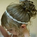 זול עליוניות לחתונה-אביזרי שיער כל העונות רצועות ראש כותנה תחרה יוניסקס - לבן