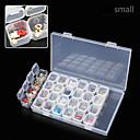 cheap Other Nail Tools-28 lattice separate transparent storage jewelry drill box