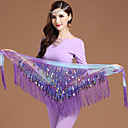 cheap Dance Accessories-Belly Dance Hip Scarves Women's Training Chiffon Gold Coin Christmas Decorations / Halloween Decorations / Princess Hip Scarf / Fairies / Sexy Global Gals / Sexy Maids & Servants / Pirates