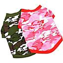 abordables Ropa para Perro-Perro Camiseta Ropa para Perro Caricatura Rojo Rosa camuflaje de color Algodón Disfraz Para Verano Hombre Mujer Casual / Diario Moda