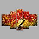 halpa Maisema maalaukset-Hang-Painted öljymaalaus Maalattu - Kukkakuvio / Kasvitiede Moderni Kangas