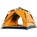 رخيصةأون مفارش و خيم و كانوبي-Shamocamel® 4 شخص أوتوماتيكي الخيمة في الهواء الطلق طبقات مزدوجة خيمة التخييم إلى تخييم السفر